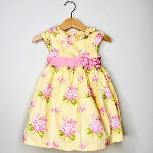 Gymboree Yellow Pink Flower Fit & Flare Dress